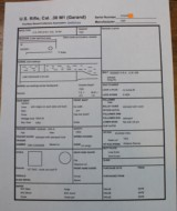 Harrington & Richardson M1 Garand See Data SheetsHRA CMP Certificate Original TE 2.5 MW 1.0 30.06 - 2 of 25