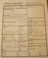 Winchester M1 Garand September 44 Original CollectorWRA/GHD Small Ordinance Wheel. See Data Sheet - 2 of 25