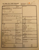 Springfield Armory M1 Garand Jan 44 OriginalSA/NFR Serifed Circle P See Data Sheets - 2 of 25