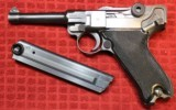 "World War II Mauser ""byf"" Code 1942 Production Black Widow P.08 Luger Pistol"