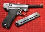 "World War II Mauser ""byf"" Code 1942 Production Black Widow P.08 Luger Pistol - 2 of 25"