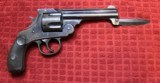 Harrington & Richardson Automatic Ejector Model Double Action Revolver with Knife Attachment