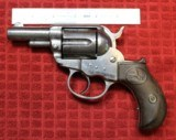 "Colt Thunderer .41 caliber storekeeper's model, 2-1/2"" barrel, nickel plated, hard-rubber grips"