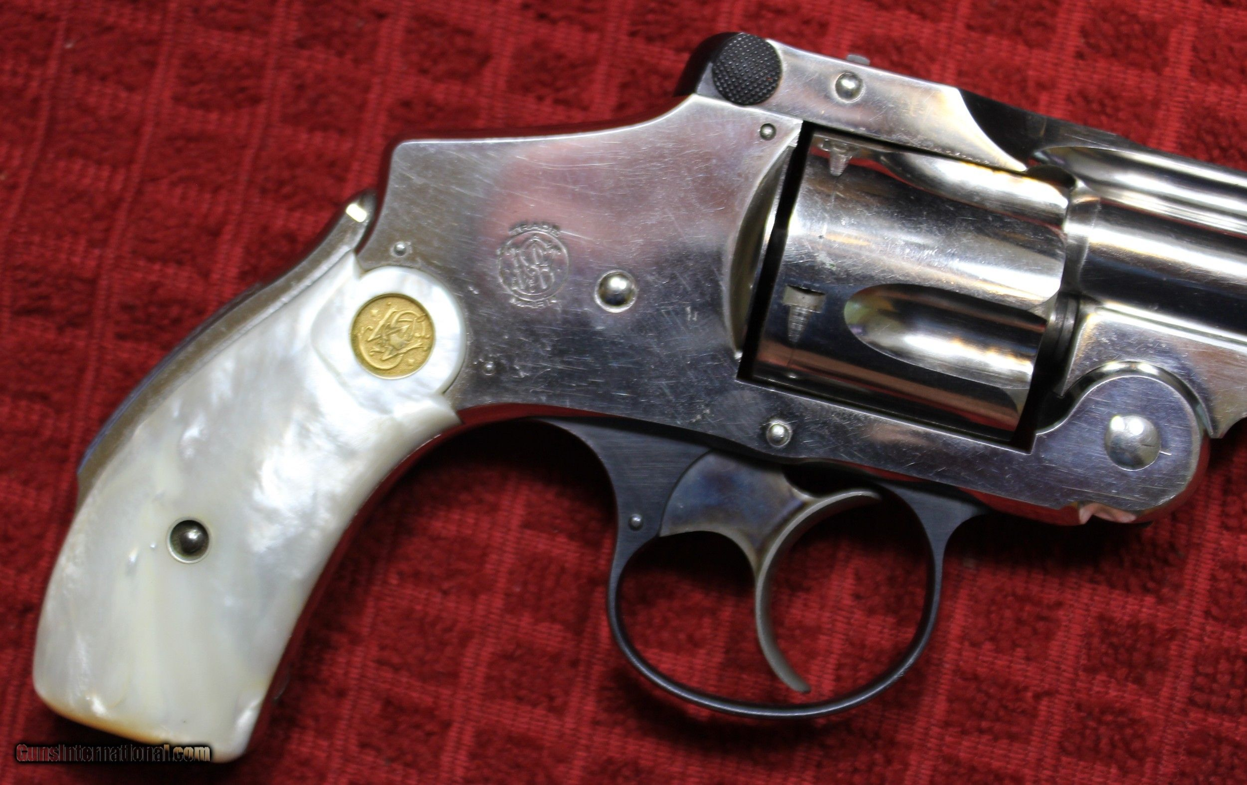 Nickel Plated  38 S&W Safety Hammerless Fourth Model 3 1/4