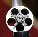 """Nickel Plated .38 S&W Safety Hammerless Fourth Model 3 1/4"""" 5 shot Revolver with Pearl S&W logo grips - 15 of 25"""