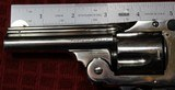 """Nickel Plated .38 S&W Safety Hammerless Fourth Model 3 1/4"""" 5 shot Revolver with Pearl S&W logo grips - 25 of 25"""