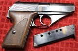Mauser HSC German Nazi marked, 7.65mm, 32 ACP w Two Mags and Period Correct Holster - 2 of 25