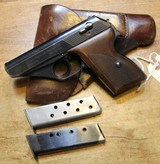 Mauser HSC German Nazi marked, 7.65mm, 32 ACP w Two Mags and Period Correct Holster