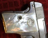Colt 1908, Nickel with Factory Pearl Grips with Recessed Colt Medallions, Cal. .25 ACP - 6 of 25