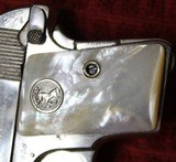 Colt 1908, Nickel with Factory Pearl Grips with Recessed Colt Medallions, Cal. .25 ACP - 9 of 25