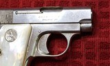 Colt 1908, Nickel with Factory Pearl Grips with Recessed Colt Medallions, Cal. .25 ACP - 4 of 25