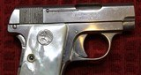 Colt 1908, Nickel with Factory Pearl Grips with Recessed Colt Medallions, Cal. .25 ACP - 5 of 25