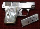 Colt 1908, Nickel with Factory Pearl Grips with Recessed Colt Medallions, Cal. .25 ACP - 2 of 25