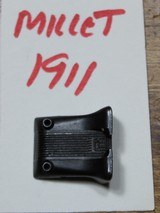 Millet Fixed Serrated Rear Sight for 1911 With Standard Dovetail