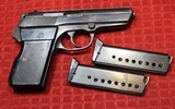 CZ ~ VZOR 70 ~ .32 Auto or 7.65 mm with two magazines - 2 of 25