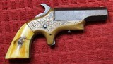 Southerner Derringer by Brown ManufacturingSN 1650 Engraved w Ivory Grips - 2 of 25