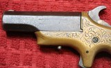 Southerner Derringer by Brown ManufacturingSN 1650 Engraved w Ivory Grips - 16 of 25