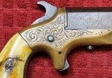 Southerner Derringer by Brown ManufacturingSN 1650 Engraved w Ivory Grips - 10 of 25