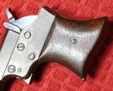 REMINGTON VEST POCKET 41RF CAL. SAW HANDLE DERRINGER CIRCA 1860'S. - 7 of 25