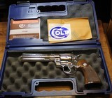 Colt Python 357 Mag. 6 Inch Nickel. In Blue Hard Box with Paperwork