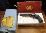 "Colt Diamondback 6"" Blue 22LR with Original Box and Replacement Box"