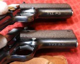 Documented Factory Inscribed St. Louis Police Dept. Colt Super 38 Semi-Automatic Pistol Consecutive Pair - 24 of 25