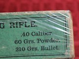 Vintage Winchester 40-60 40 Caliber 60 Grs 210 Grs Bullet box of 20 Cartridges - 19 of 22
