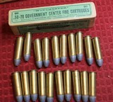 Vintage Winchester .50-70 Government Center Fire Cartridges Box of 20 - 17 of 25