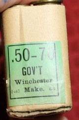 Vintage Winchester .50-70 Government Center Fire Cartridges Box of 20 - 12 of 25