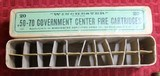Vintage Winchester .50-70 Government Center Fire Cartridges Box of 20 - 15 of 25