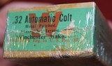 Winchester .32 Automatic Colt Cartridges 50 Round Box Vintage. Appears Unopened - 9 of 11