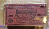 Winchester .22 W.R.F. Caliber 50 Rounds H Head Stamp Purple label Unopened Box - 1 of 17