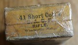 WINCHESTER .41 SHORT CENTER FIRE ~ for COLT'S D.A. CENTER FIRE RIFLE FULL BOX (50) Antique Vintage - 6 of 17