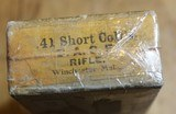 WINCHESTER .41 SHORT CENTER FIRE ~ for COLT'S D.A. CENTER FIRE RIFLE FULL BOX (50) Antique Vintage - 11 of 17