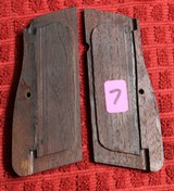 Original Browning Hi Power HP 35 Factory Grips Walnut 9mm - 2 of 25