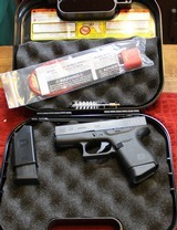 Glock 43 9mm with Two Magazines, box and NO paperwork or fired case