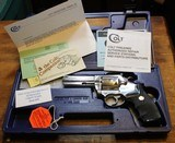 Colt King Cobra 4 Inch Stainless Model. 357 Magnum with Plastic Hard Case, Paperwork