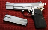 Jim Hoag Hard Chrome Browning Hi Power 9mm BHP