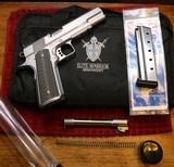 Elite Warrior Armament 1911 38 Super 9mm Stainless Steel Rail Pistol