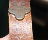 Original U.S. WWII M1907 Pattern Milsco 1944 Leather Sling with Steel Hardware for M1 Garand