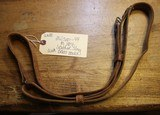 Original U.S. WWII M1907 Pattern Milsco 1944 Leather Sling with Brass Hardware for M1 Garand
