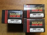Black Hills HoneyBadger Ammunition 9mm Luger Subsonic 125 Grain Lehigh Xtreme Defense Lead-Free Box of 20 times 2 or 40 rounds