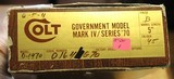 Colt 1911 Government Model MKIV Series 70 45ACP with Box and Paperwork 1976 year of Manufacture