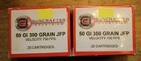 Guncrafter Industries .50GI 300gr Jacketed Flat Point (20 Count Box) Times 2 or 40 Rounds
