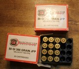 Guncrafter Industries .50GI 300gr Jacketed Flat Point (20 Count Box)and 15 round Box. 35 Rounds