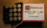 Guncrafter Industries .50GI 48 Rounds = 20 185 CHP 13 275 JHP 15 230 CHP Mixed - 5 of 15