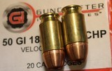 Guncrafter Industries .50GI 48 Rounds = 20 185 CHP 13 275 JHP 15 230 CHP Mixed - 14 of 15