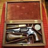Colt Root Third Model .28 Caliber Revolver with Fluted Cylinder Marked 1855