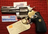 """Colt Python 4"""" Barrel E-Nickel 6 Shot 357 Magnum Revolver with NO box"""