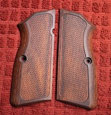 VZ Wood Browning Hi Power BHP Grips for 9mm or 40 S&W Plastic or Similar Firearm.